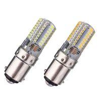 Wholesale Best Promotion BA15D W Pure White Warm White SMD LED Crystal Energy Saving Corn Light Lamp Bulb AC V