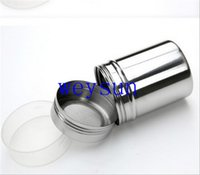 Wholesale Chocolate Shaker Cocoa Flour Salt Powder Icing Sugar Cappuccino Coffee Sifter Lid Cooking Tools