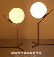 arrival copper tables - 2016 new arrivals north Europe LED Glass globe table light bedside light table lights AC85 V light fixture LED night light
