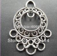 Wholesale MIC Tibetan Silver to loop Earring Connectors Pendant Connector x26mm