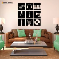 baby stencils - Music Instruments Stencil Wall Stickers For Living Rooms DIY Art Murals Wallpaper Baby Nursery Bedroom Home Decor