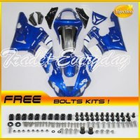 Wholesale Injection Molded Fairing Fit Fits For YZF1000 R1 YZF R1 Blue White A85