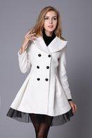 beautiful wind jacket - 2016 Europe and American New style Fashion women s woolen coat Elegant double breasted slim Woman jackets Skirt style beautiful wind coats