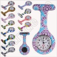 Wholesale 1000pcs CCA4381 High Quality Silicone Nurse Watch Medical Nurse Watch Printed Pattern Fob Quartz Watch Doctor Watch Pocket Medical Watch