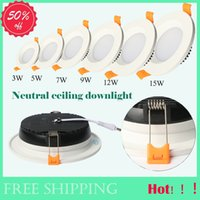 Wholesale Freeshipping W W W W W W V V Recessed LED Downlights led Ceiling Lights