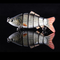 Wholesale Hot Sale cm g Lifelike Segments Swimbait Fishing Lure Crankbait Hard Bait Fish Treble Hook Fishing Tackle