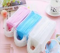 Wholesale 100pcs Disposable dustproof anti virus medical non woven fabrics face mask mouth mask