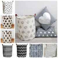 beverage buckets - Ins Storage Baskets Bins Kids Room Toys Storage Bags Bucket Clothing Organizer Laundry Bag Canvas Organizer Batman Polka Dot Laundry D44