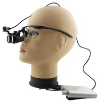 Wholesale Spark x Magnification Professional Loupes with Black BP Sports Frame and Mounted LED Head Light for Dental Surgical