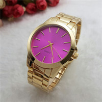 Wholesale Multicolor New Fashion Luxury Design Women Gold Watch Stainless Steel Quartz Watch Montre Clock Relogio Relojes De Marca Wristwatches