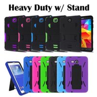 alcatel tablets - Heavy Duty Military Hybrid Silicone Cover Tough Box Case w Stand for Samsung Tab A Tablet LG G PAD F F Alcatel OneTouch PIXI