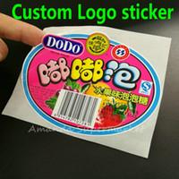 Wholesale Custom Label Sticker custom logo Text Serial Numbers Transparent PVC Jar Bottle Sealing Sticker Kraft Sticker US is not real price