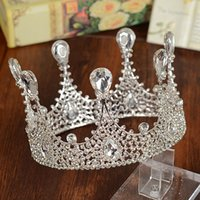 Wholesale 2016 Brand designer big silver rhinestone tiaras bridal hair accessories crystal crowns headpieces wedding jewelry