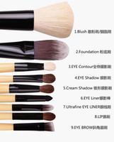 Cheap high quality makeup tools natural goat hair bobbi 9 pcs professional makeup brushes set with box hot sale