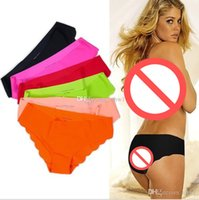 100 cotton fabric - Sexy Briefs Fabric Ultra thin Comfortable Underwear women Seamless Panties for Ladies Girls seamless Briefs for gf gift