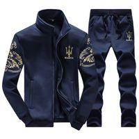 active stand - Tracksuits Men Leisure Sport Suit Luxury Men s Sportswear Brand Hoodies Hip Hop Jogger Set Cool Sweatshirt Sudaderas Hombre