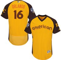 american city names - 2016 Baseball All Star Kansas City Royals Paulo Orlando American Yellow Flexbase Jerseys Stitched Name And Number