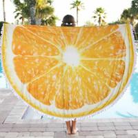 big picnic blanket - New cm Beach Towel Summer Large Printed Big Round Circle Picnic Blanket Shawl