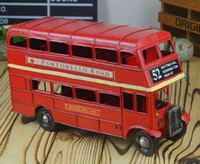 big red bus - Model Bus Diecast Cars Model Cars for Kids Car Toys Children Christmas Gift A82