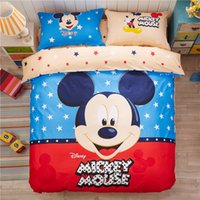 Wholesale FEDEX OR UPS Styles Cotton Sheets England Flag Mickey Love Tree Cartoon Sheets Double Sided Printed Cover