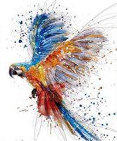 animal cross stitch - New d Diy Diamond Painting Parrot Cross Stitch Round Rhinestones Mosaic Kits Home Decor Paintings Fashion New Handmade Crafts