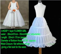 children petticoat - Girl Petticoats White Petticoat A line Hoops Children Kid Dress Crinoline Bridal Underskirt Wedding Accessories For Flower Girl Dresses