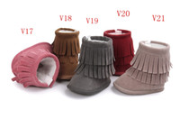Wholesale BX198 kids Baby moccasins soft sole first walker shoes baby newborn shoes Tassels maccasions boot bootie month