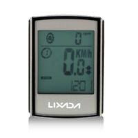 bicycle computer cadence - LIXADA in Waterproof Wireless Bike Bicycle Computer Speed Cadence Multifunctional Large LCD Screen Cycling Computer