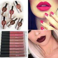 beauty cosmetics liquids - Huda Beauty colors Lip Contour liquid Matte Lipgloss set waterproof Long lasting Lipstick colors Makeup cosmetics DHL