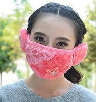 Wholesale Winter Masks for outside Dustproof mouth earmuffs Mouth protection warm fashion cartoon riding protective masks