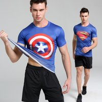 Wholesale The Explosion Models Sport Fitness Clothes Stretch Tight Sleeved Compression Speed Drying Size S XL