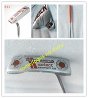 Wholesale logo sc ca no show golf clubs silver port2 putters inch steel shaft right hand golf putter free send headcover men putters