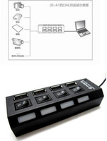 Wholesale 4 Port USB High Speed HUB ON OFF Sharing Switch USB Port micro usb hub For Laptop PC
