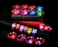Wholesale Creative Cartoon LED Watch flash Wrist bracelet light small gifts children toys stall selling goods Christmas toys JF