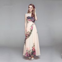Wholesale 2016 Summer Jewel With Capped Short Sleeves Flesh Pink Bodycon Long Evening Gowns Lace Formal Special Occasion Dresses Printed Evening Gowns