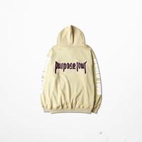 Wholesale New Bieber Hoodie Autumn And Winter Hoodies Sweatshirt Men Purpose Tour Hoodies Fear Of God Men High Street Khaki XL