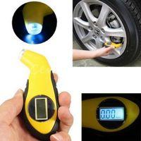 Wholesale LCD Digital Tire Tyre Air Pressure Gauge Tester Tool Fr Auto Car Motorcycle M00095 BAR