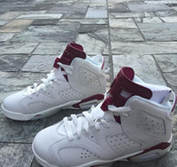 Wholesale Retro6 VI Maroon men Basketball sports shoes Retro VI Maroon OG s Off White Sneakers