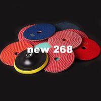 Wholesale Wet Dry Diamond Polishing Pads Inch Set Kit For Granite Concrete Marble Polish mix Grit M14 Thread