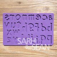 alphabet borders - G0015 letter alphabet silicone Gum paste Cake border cake mold baking tools kitchen accessories decorations for cakes Fondant