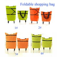 Cheap New Arrival Foldable Shopping Bags Polyester Shopping Trolley Bag Large Capacity Cart Free Shipping