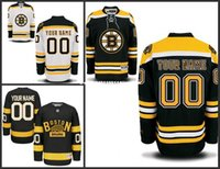 Wholesale Customized Men s Boston Bruins Custom Any Name Any Number Ice Hockey Jersey Authentic Jersey Embroidery Logos Accept Mix Ord size S XL