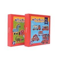 2 de la manera Diseño Mideer animales y los niños del juego de coches grandes animales rompecabezas educativos de tráfico de la aclaración del rompecabezas cognitiva