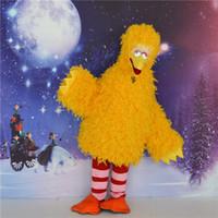 big bird costumes - Sesame Street BIG BIRD CartoonMascot dress adult size costume EPE carnival mascot costume party Fancy Dress