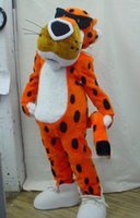 adult cheetah costumes - NO MASCOT Chester Cheetah Mascot Costume Adult Size Classic Halloween Leopard Costumes Fancy Dress Suit EMS