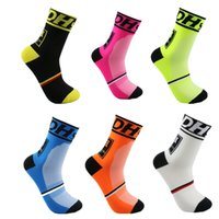 Wholesale Men Cycling Socks High Elasticity Outdoor Sports Bike Footwear Non slip soles Wicking breathable Bike socks ciclismo calzini