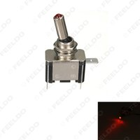 Wholesale 10pcs V A Red LED Light Auto Motocycle Toggle Switch Control ON OFF guarantee quality