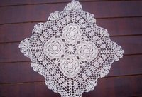 Wholesale 15 x15 quot inches square table cover handmade tablecloth hand crochet Doilies placemats table mat