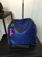 Wholesale size26 FALABELLA MINI TOTE IN SHAGGY DEER women chains cross tote bags women stella Mccartney DHL shipping