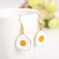 american girl fun - New Arrival Lovely Omelette Poached Eggs Fun Fried Pendant Necklace Earring Ring for Women Girls Jewelry Set
